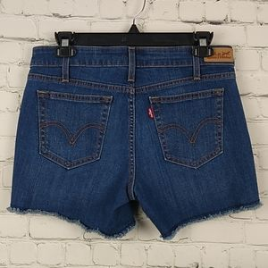 Levi's Denim Cut-off Shorts 4/27 Blue